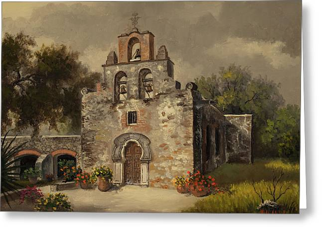 Mission Espada Greeting Card by Kyle Wood