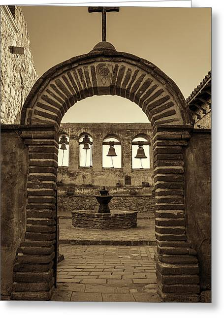 Mission Gate And Bells #2 Greeting Card