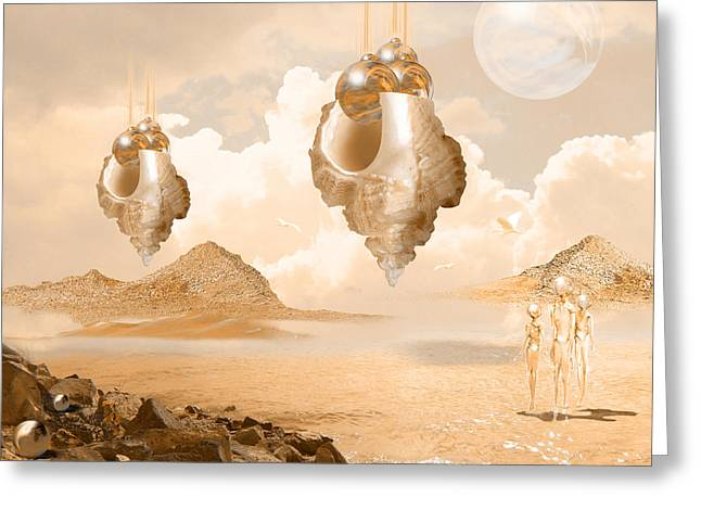 Mission In A Far Planet Greeting Card