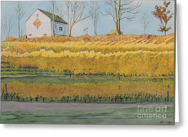 Mission Peninsula Gold Greeting Card by LeAnne Sowa