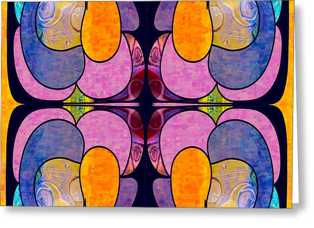 Mission Possible Abstract Hard Candy Art By Omashte Greeting Card by Omaste Witkowski