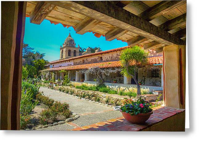 Mission San Carlos Borromeo Del Rio Carmelo Greeting Card by Michele James