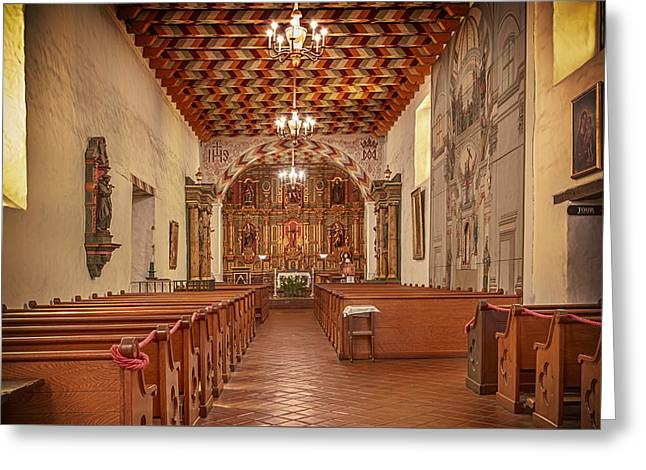Greeting Card featuring the photograph Mission San Francisco De Asis Interior by Susan Rissi Tregoning