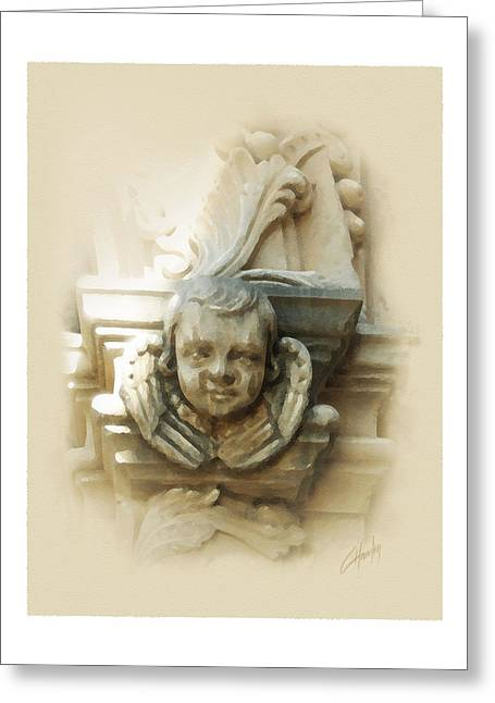 Mission San Jose Angel Greeting Card by Cliff Hawley