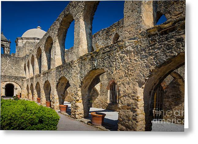 Mission San Jose Greeting Card by Inge Johnsson
