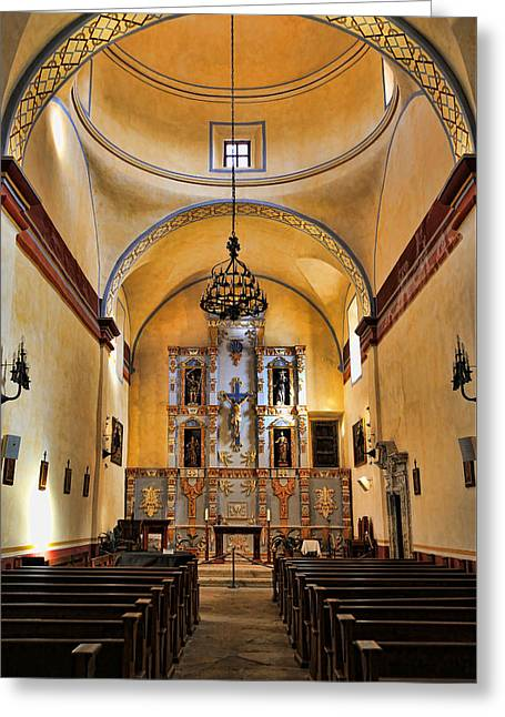 Mission San Jose Sanctuary Greeting Card by Stephen Stookey