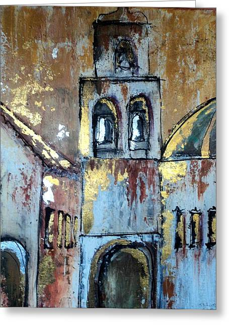 Mission San Jose Greeting Card by Suzanne Kfoury