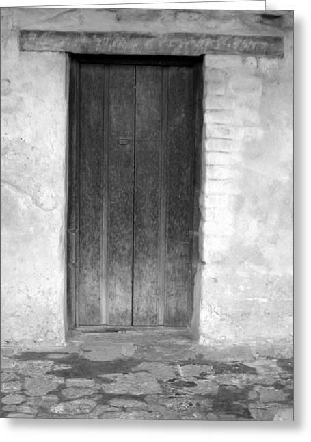 Mission San Juan Capistrano Doors Greeting Card