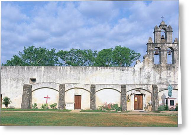 Mission San Juan From Ca. 1750, San Greeting Card by Panoramic Images