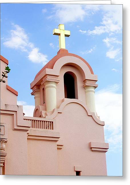 Mission San Rafael Parish Church Greeting Card by Art Block Collections