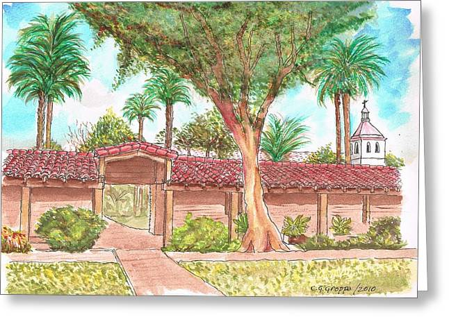 Mission Santa Clara De Asis, California Greeting Card by Carlos G Groppa