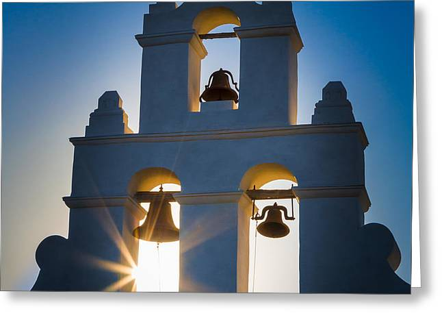 Mission Sunset Greeting Card by Inge Johnsson