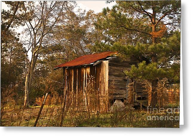 Greeting Card featuring the photograph Mississippi Corn Crib by Tamyra Ayles