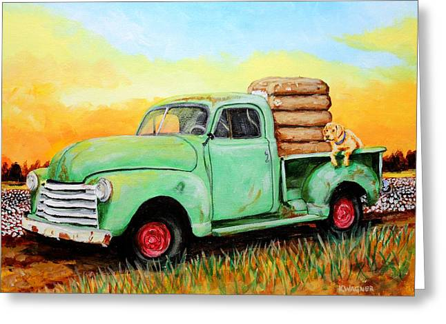 Mississippi Delta Dirt Road Greeting Card by Karl Wagner