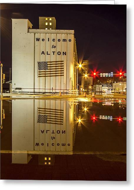 Mississippi Flodding Alton Illinois Greeting Card