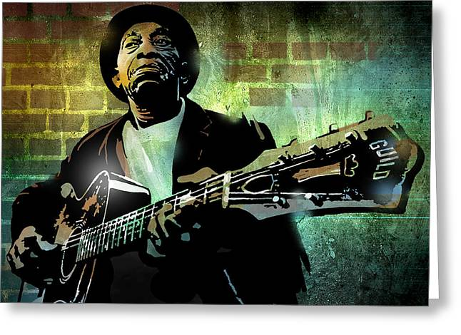 African Greeting Greeting Cards - Mississippi John Hurt Greeting Card by Paul Sachtleben