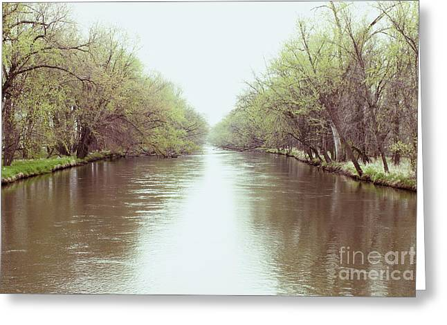 Mississippi North Backwater Greeting Card by Heather Giebel