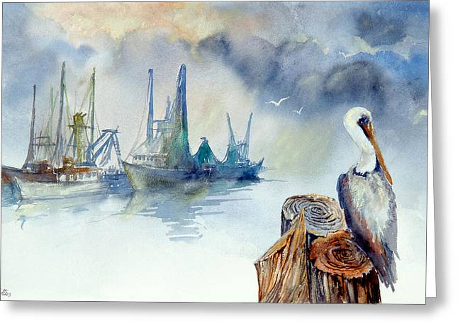 Mississippi Pelican Greeting Card by Bobby Walters