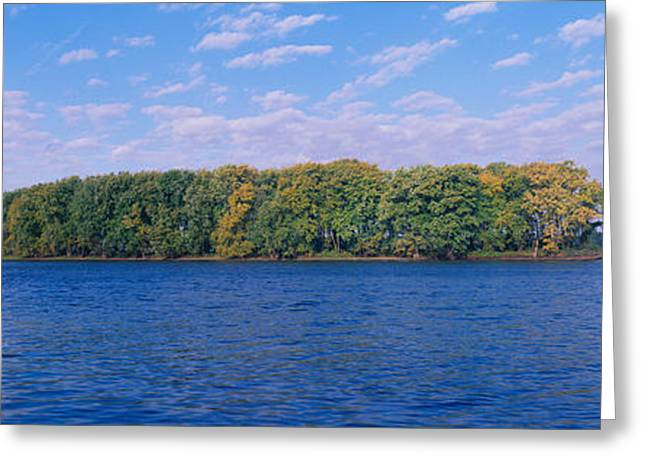 Mississippi River Along Great River Greeting Card by Panoramic Images