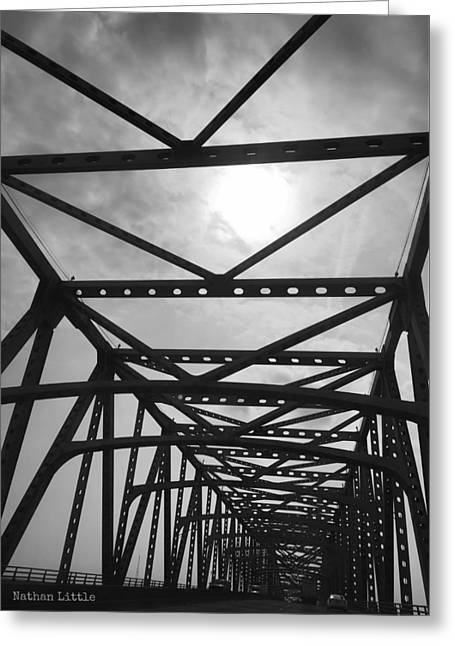 Mississippi River Bridge Greeting Card