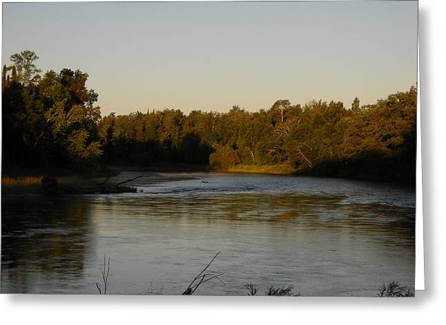 Mississippi River Morning Glow Greeting Card