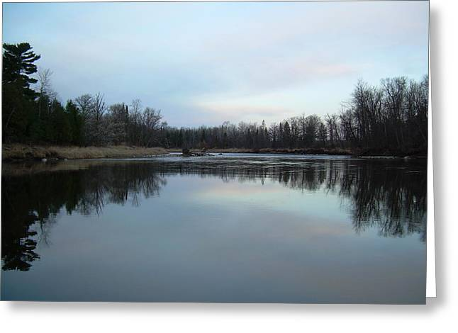 Mississippi River Morning Reflection Greeting Card by Kent Lorentzen