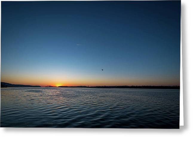 Mississippi River Sunrise Greeting Card