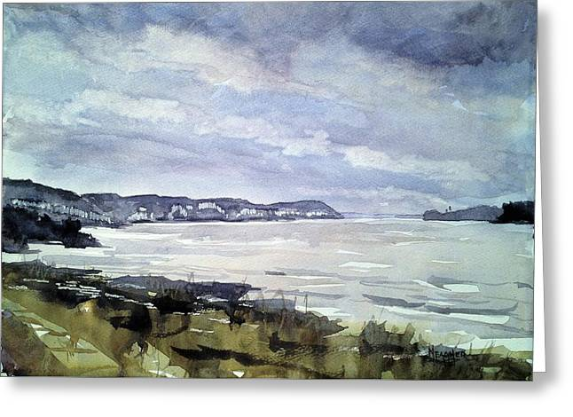 Mississippi River White Cliffs Greeting Card by Spencer Meagher