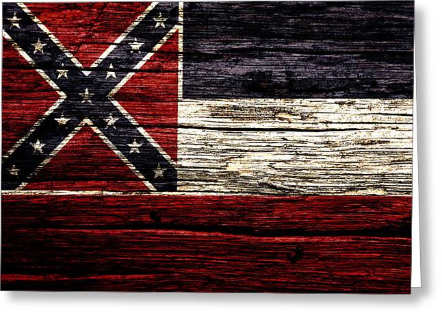 Mississippi State Flag 2w Greeting Card