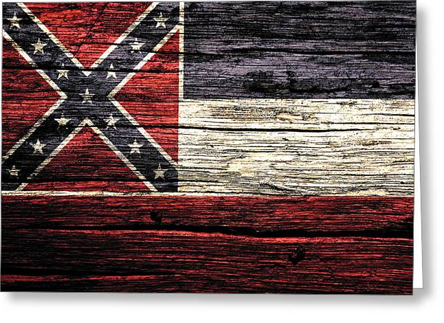 Mississippi State Flag 3w Greeting Card