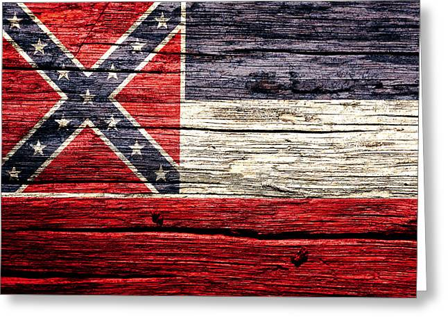 Mississippi State Flag 4w Greeting Card