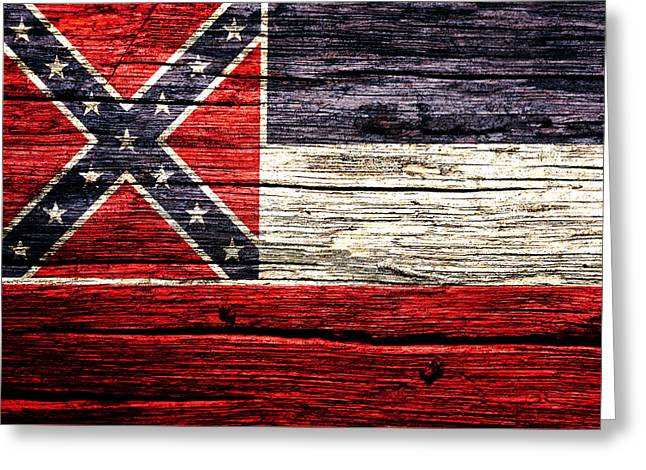 Mississippi State Flag 5w Greeting Card