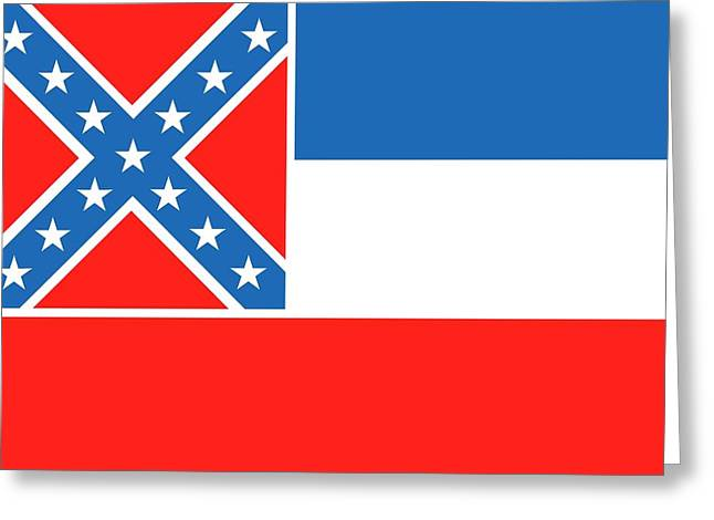 Mississippi State Flag Greeting Card by American School