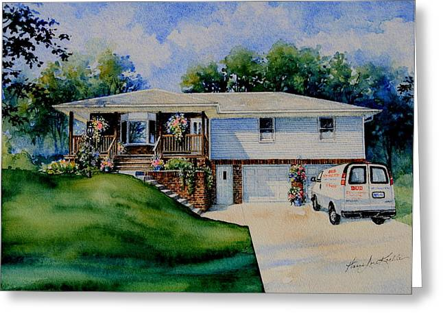 Missouri Home Portrait Greeting Card by Hanne Lore Koehler