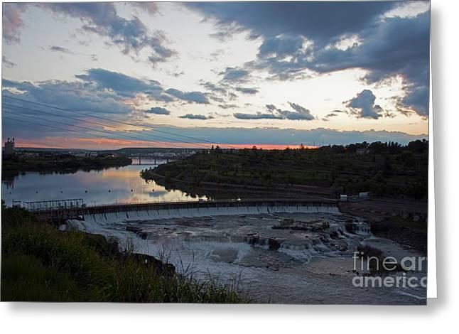Missouri River Black Eagle Falls Mt Greeting Card