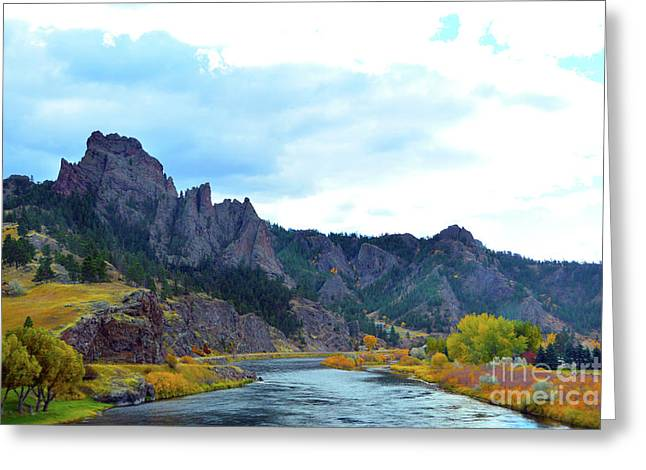 Missouri River Colors Greeting Card
