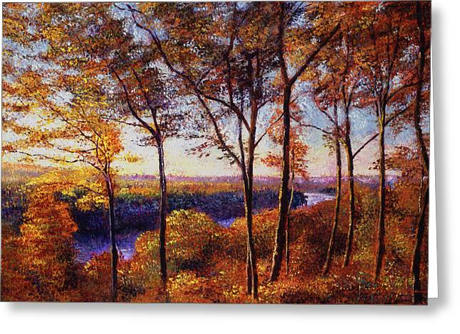 Missouri River In Fall Greeting Card