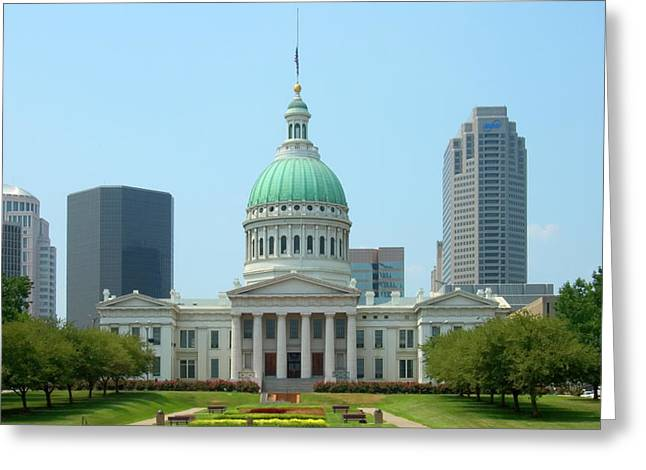 Greeting Card featuring the photograph Missouri State Capitol Building by Mike McGlothlen
