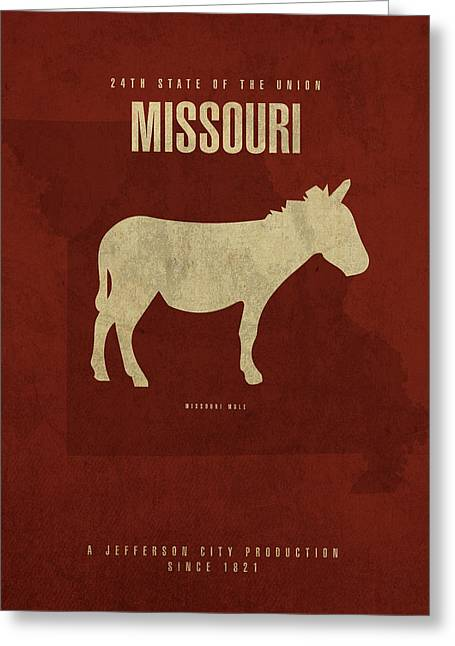Missouri State Facts Minimalist Movie Poster Art Greeting Card