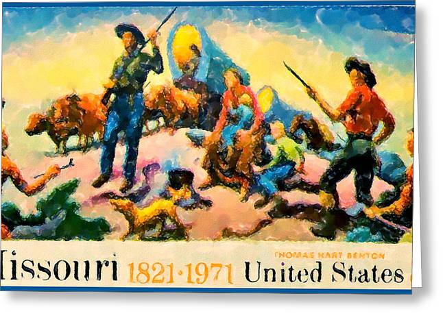 Missouri Statehood Sesquicentennial Greeting Card by Lanjee Chee
