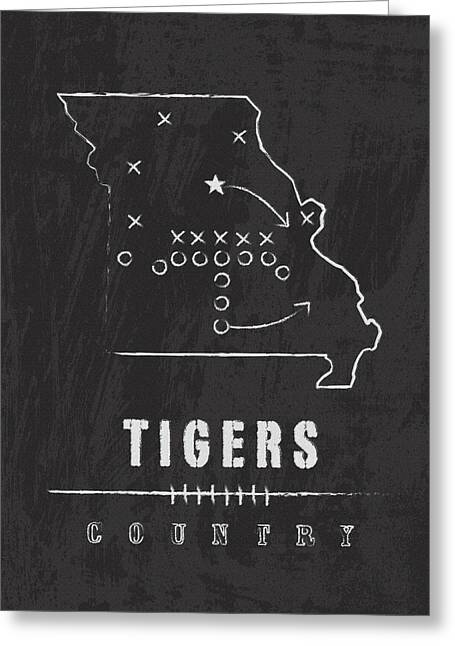 Missouri Tigers Country Greeting Card by Damon Gray