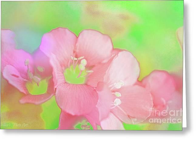 Missouri Wildflowers 5  - Polemonium Reptans -  Digital Paint 7 Greeting Card