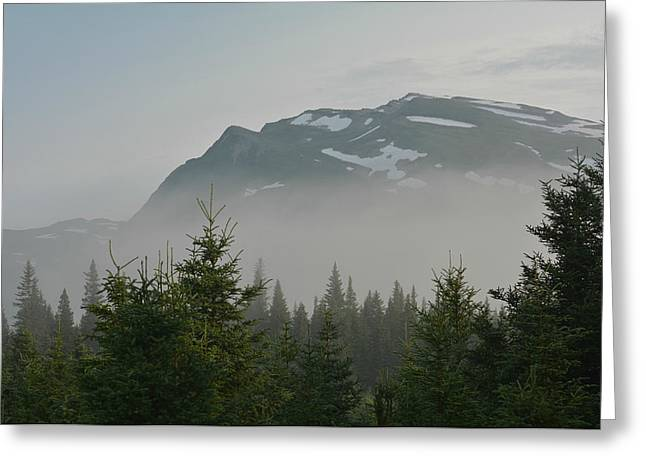 Mist And Mountains Greeting Card