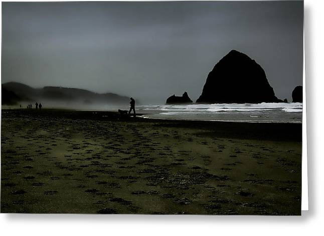 Mist At Cannon Beach Greeting Card by David Patterson