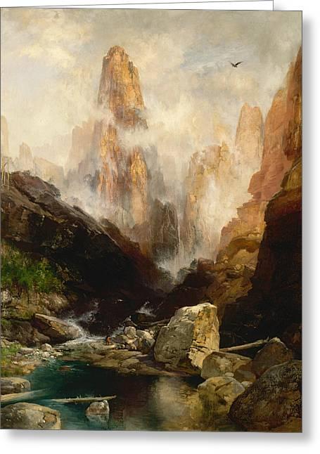 Mist In Kanab Canyon Utah Greeting Card by Thomas Moran