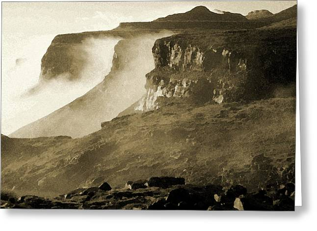 Mist In Lesotho Greeting Card