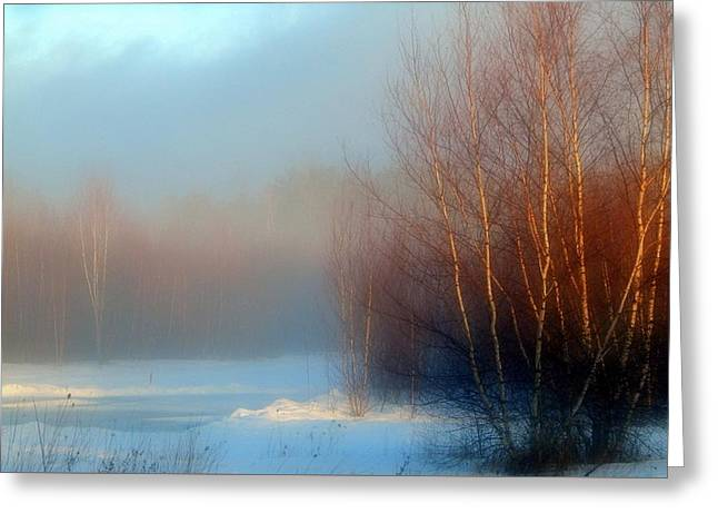 Mist Of The Morning Greeting Card