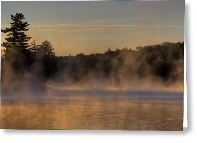 Mist On Old Forge Pond Greeting Card