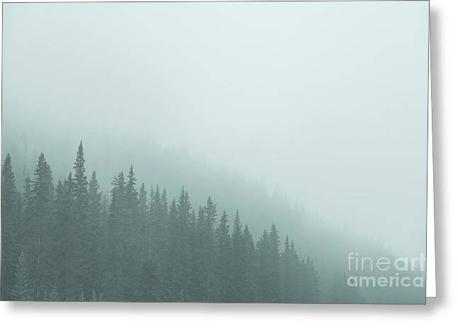 Mist On The Morning Hills Greeting Card