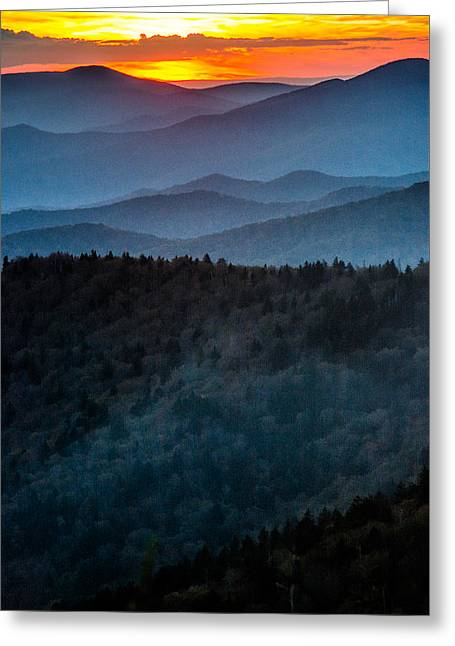 Mist On The Mountains Greeting Card by Shelby Young